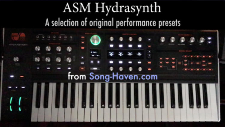 AMS Hydrasynth patches from Song-Haven